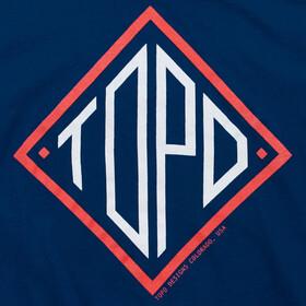 Topo Designs Diamond Camiseta Hombre, azul